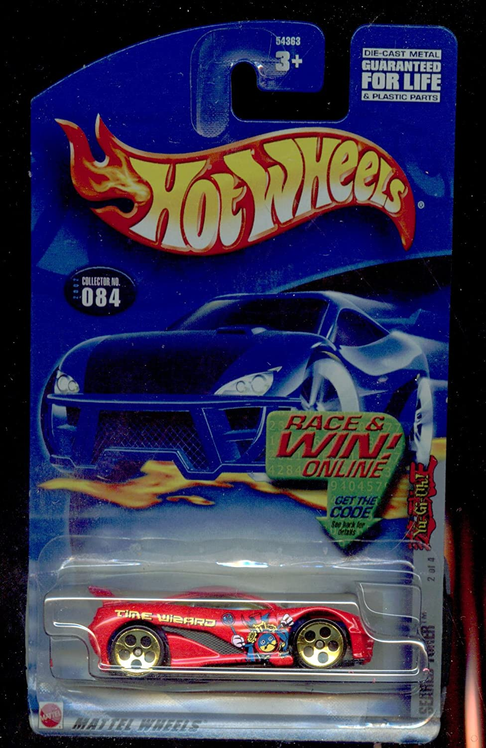 Hot Wheels 2002-084 Seared Tuner 2 of 4 Race and WIN Card 1:64 Scale by Mattel