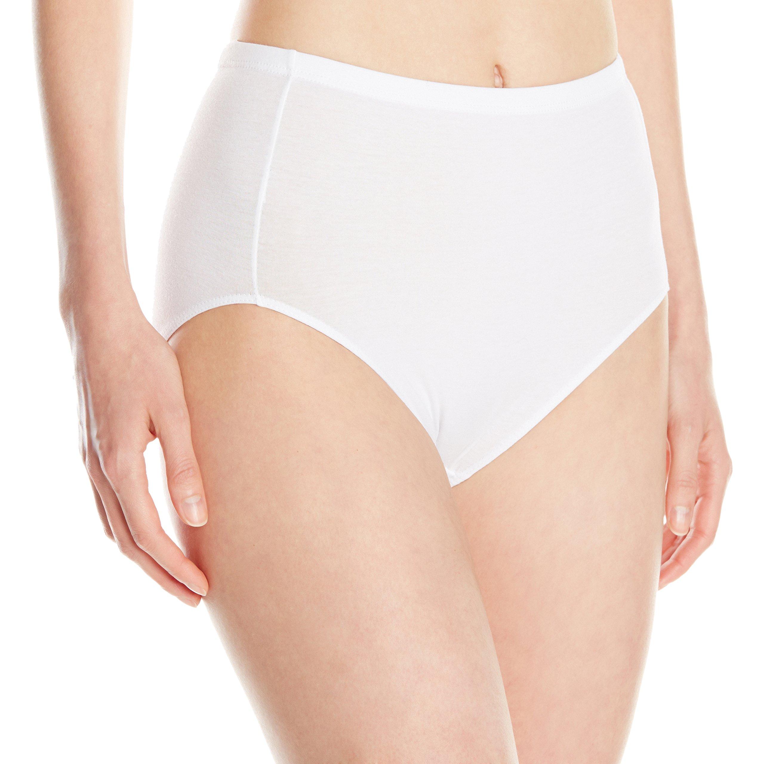 ELITA Women's Essentials Classic Cut Full Fit High Cut Brief, White, Large