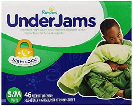 Pampers UnderJams Absorbent Nightwear Size 7, Big Pack Boy, 46 Count by Pampers