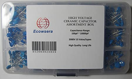 300pcs 15value High Voltage Ceramic capacitors Assortment assorted Kit with box
