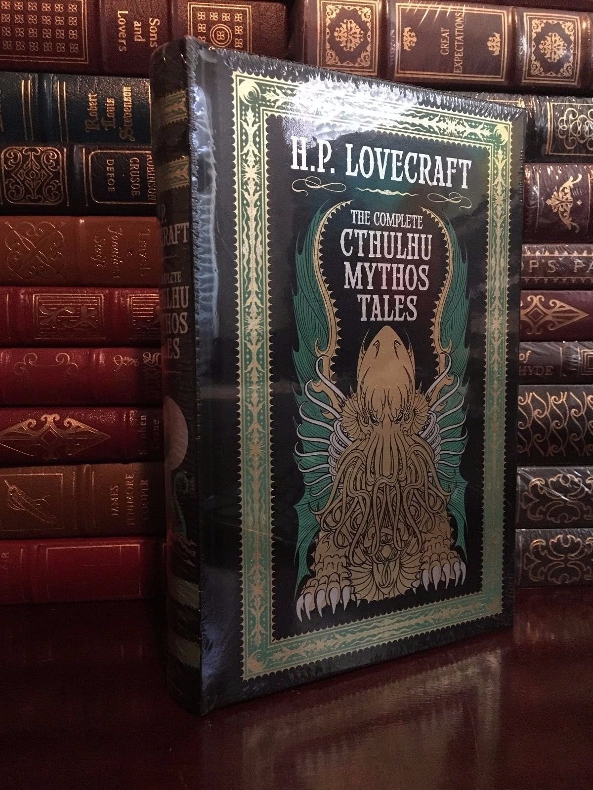 Lovecraft New Sealed Easton Press Leather Hardback Antyki i Sztuka The Complete Fiction Of H.P