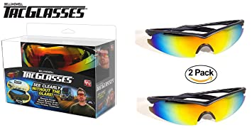 7bf442445e1 Image Unavailable. Image not available for. Colour  Pack of 2 - TAC Glasses  by Bell+Howell Sports Polarized Sunglasses for Men