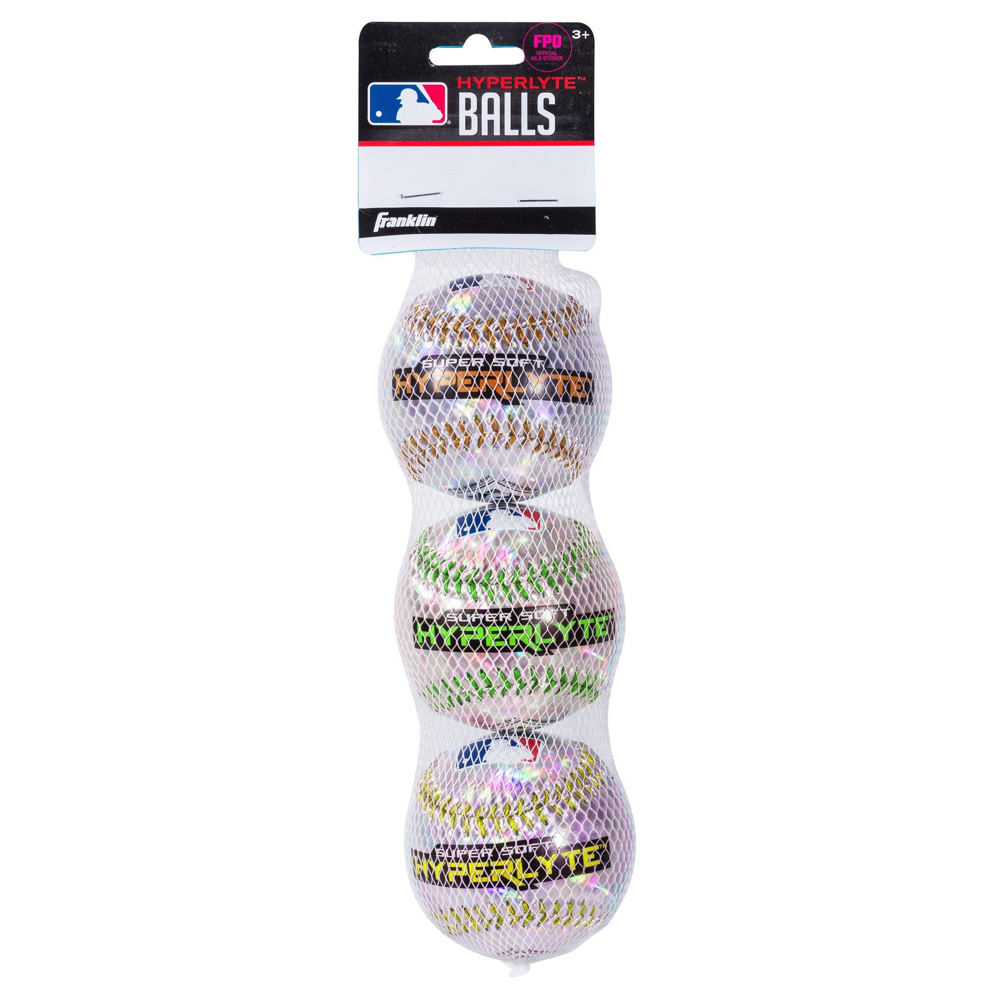 Franklin Sports Hyperlyte Super Lightweight Baseballs (3 Pack)