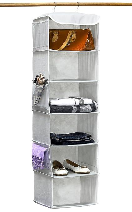 hanging closet organizer with drawers. SimpleHouseware 6 Shelves Hanging Closet Organizer, Gray Organizer With Drawers