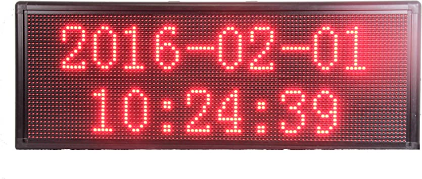 TRICOLOR LED SCROLLIN MOVING MESSAGE BOARD SCROLL SHOP WINDOW SIGN DISPLAY RED