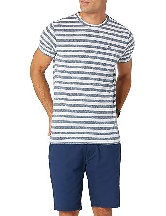 Tommy Hilfiger Essential Stripe Camiseta para Hombre: Amazon.es ...