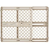 "Supergate Ergo Pressure or Hardware Mount Plastic Gate, Sand, Fits Spaces between 26"" to 42"" Wide and 26""high"