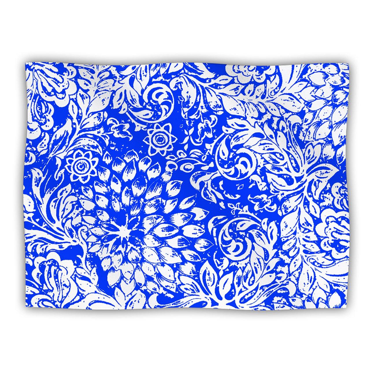 KESS InHouse Vikki Salmela Bloom Blue for You Pet Blanket, 60 by 50-Inch