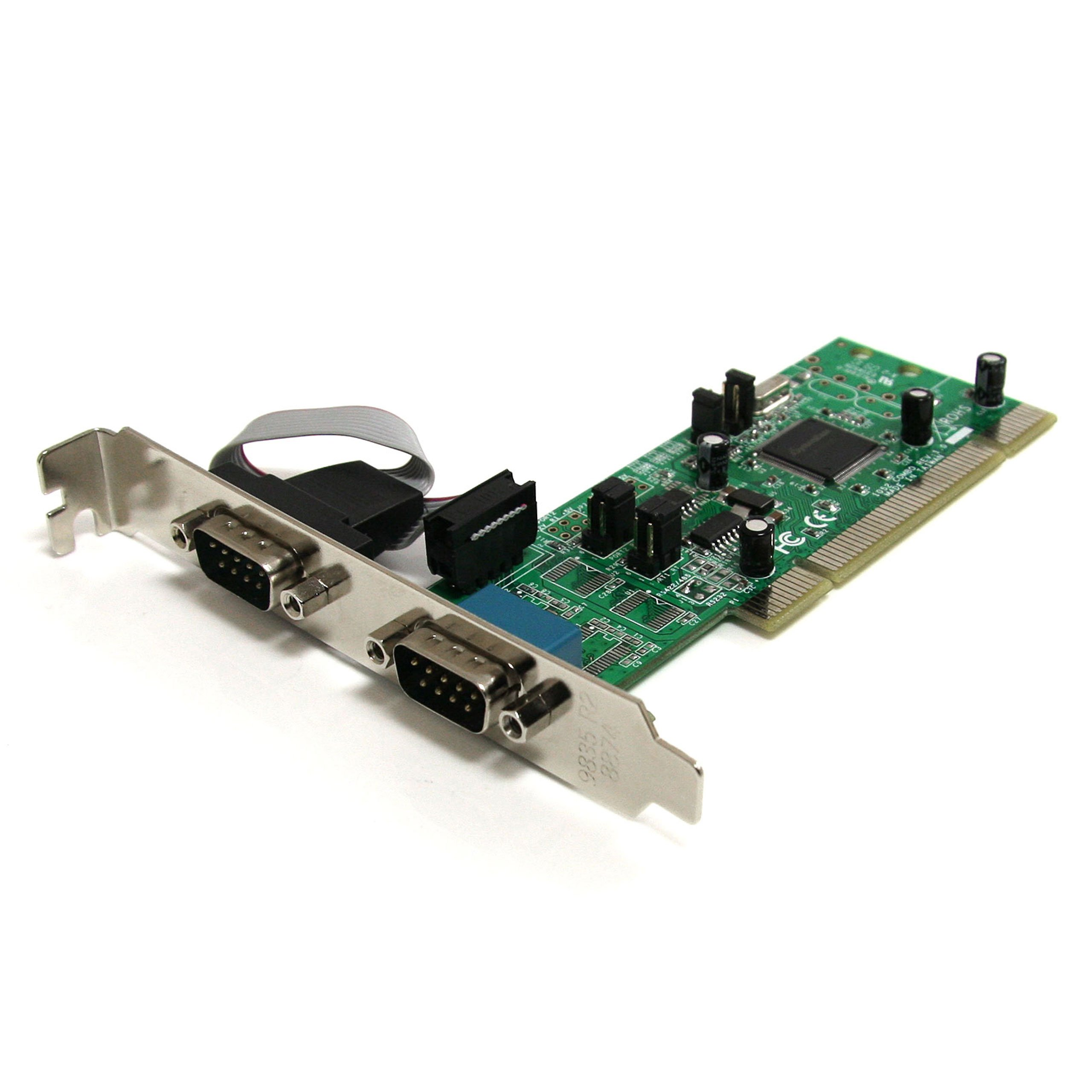StarTech.com 2 Port PCI RS422/485 Serial Adapter Card with 161050 UART - Serial Adapter - PCI-X - RS-422/485 x 2 - PCI2S4851050 by StarTech