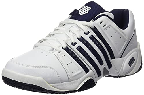 new concept 058f9 cd3cb K-Swiss Performance Men s Accomplish LTR Omni Tennis Shoes, White (White  Navy