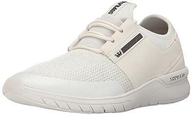 2019ece4f65f Supra Men s Flow Run Trainers White  Amazon.co.uk  Shoes   Bags