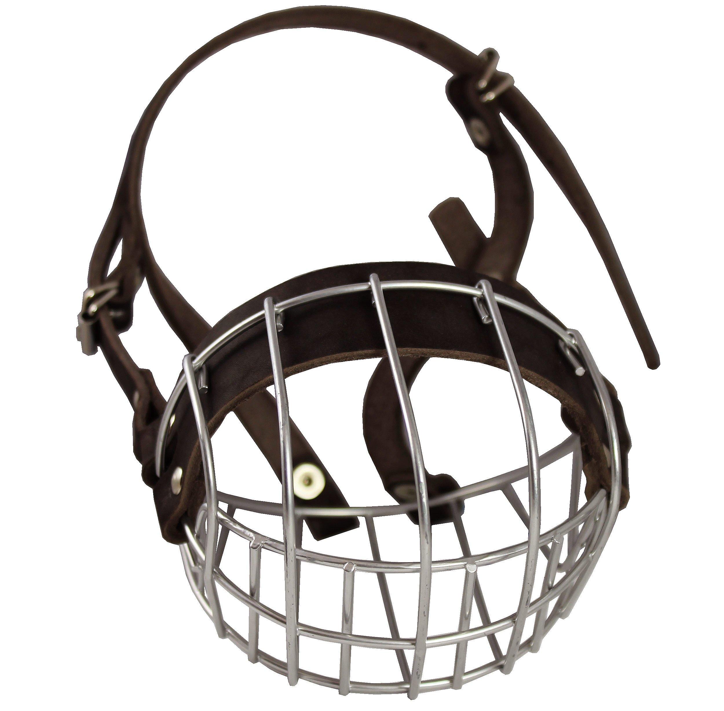 Metal Wire Basket Dog Muzzle Boxer, Bulldog Female. Circumference 13'', Length 3''