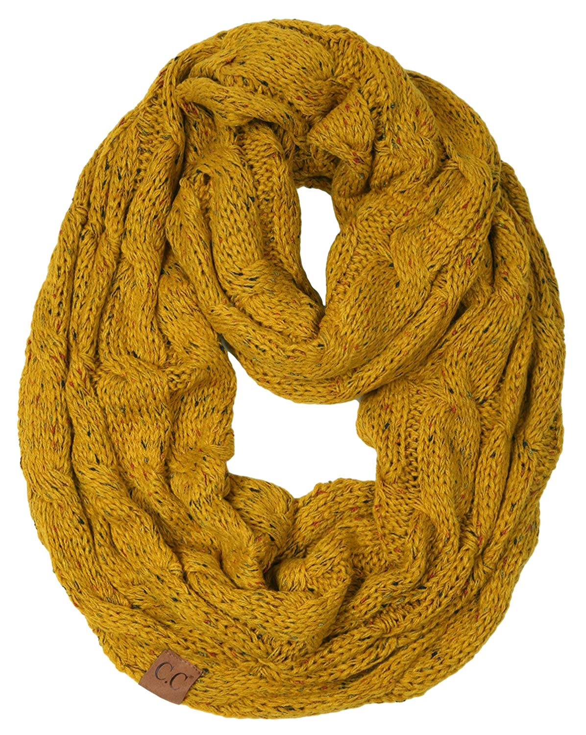 S1-6033-72 Funky Junque Infinity Scarf - Mustard (Confetti) by Funky Junque
