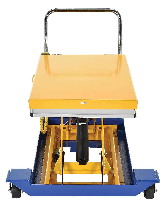 Vestil CART-23-10-DC 12V DC Powered Scissor Cart 36 Length x 24 Width Platform 1000 lbs Capacity