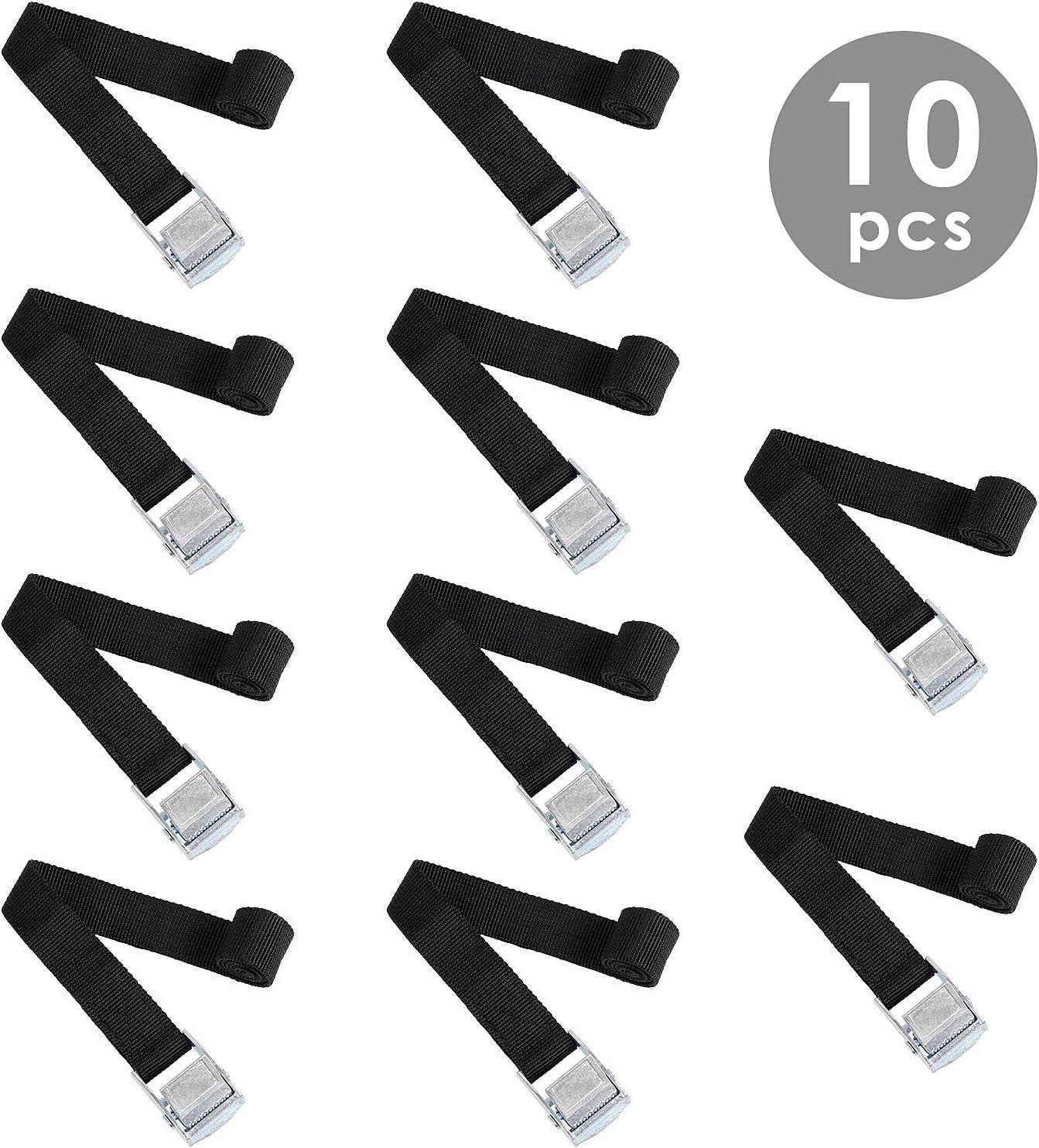 FIXKIT 10 pcs Correa de Amarre Cinta Trincaje de Sujeción Profesional Correa Trinquete Resistente con Hebillas 40 cm