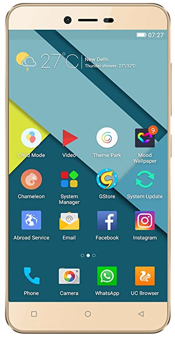Gionee P7 (Gold) Smartphones at amazon