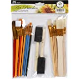 CONDA Paint Brush Set Starter Kit 25-piece Assorted Sizes