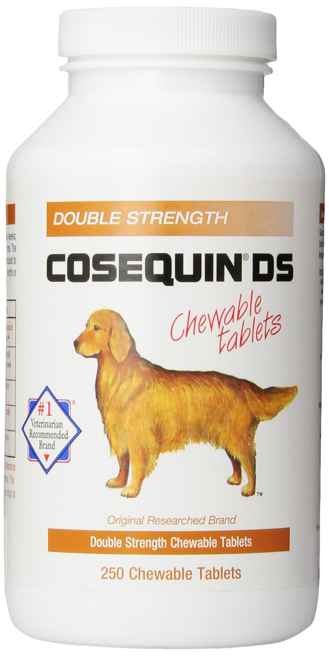 Nutramax Cosequin DS Double Strength Chewables, 250 Count, 2-Pack