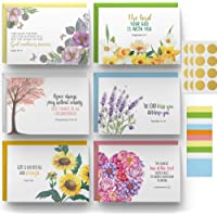 Dessie 60 Inspirational Christian Greeting Cards. 6 Bible Verses. Encouragement Cards. Scripture Note Cards. Blank…