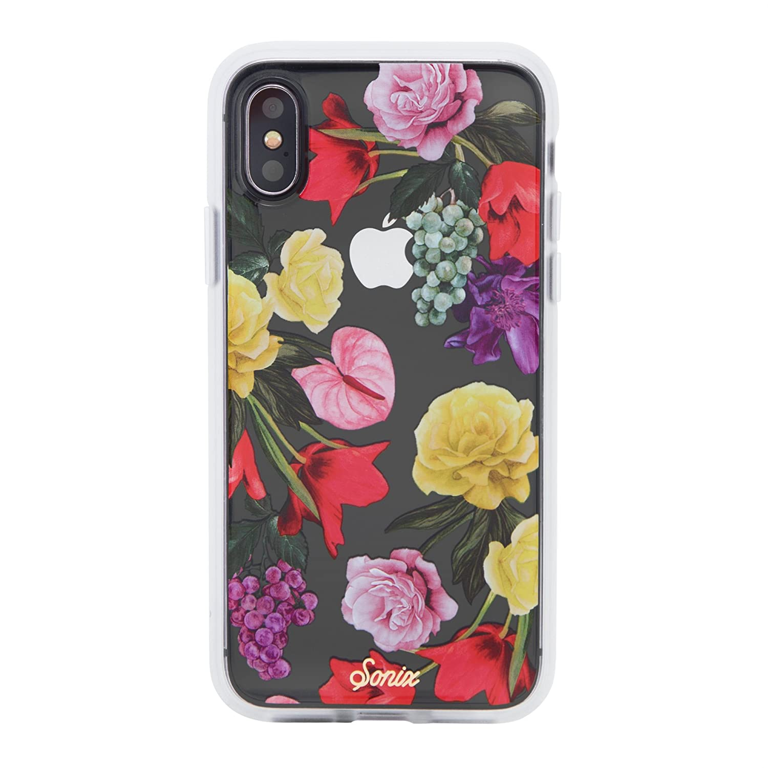 ba156094b5fb4 iPhone Xs, iPhone X, Betty Bloom (Flowers) Cell Phone Case [Military Drop  Test Certified] Women's Protective Clear Case for Apple iPhone X, iPhone Xs