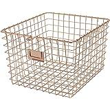 Spectrum Diversified Steel Closets, Pantry, Kitchen, Garage, Bathroom & More, Medium Wire Storage, Vintage Locker Basket…