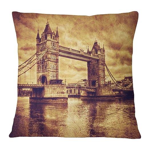 Timingila Naranja Satin Fundas de colchón Puente de Londres ...