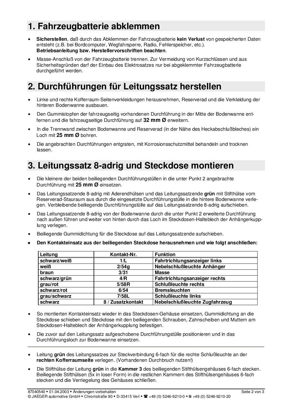Berühmt Anhängerverkabelung Für Dummies Bilder - Der Schaltplan ...