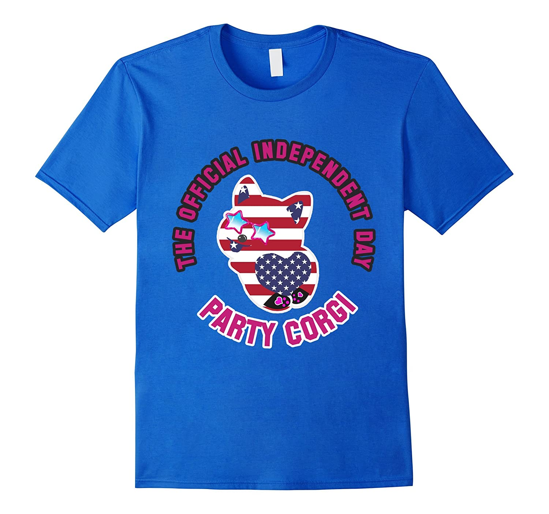 2017 American Independence Day Party Corgi Animal T-shirt-Art