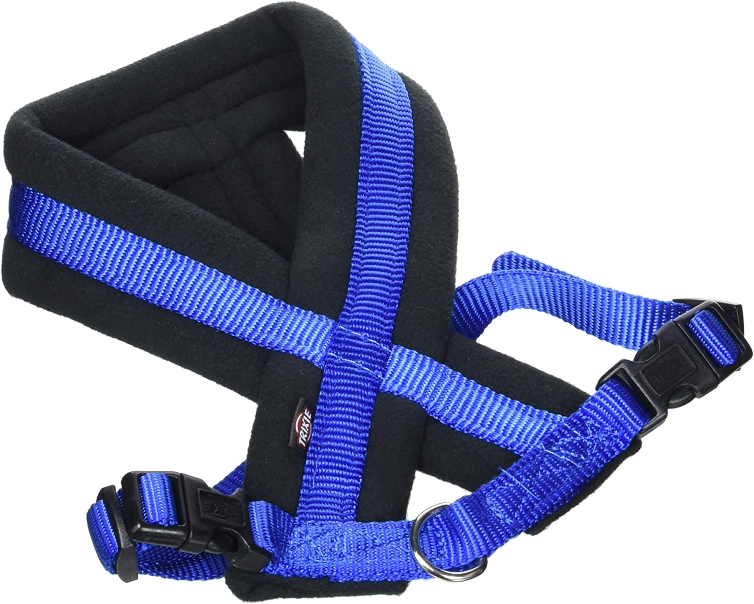 Blue 35-50 cm x 25 mm S Trixie Premium Harness with Fleece Padding