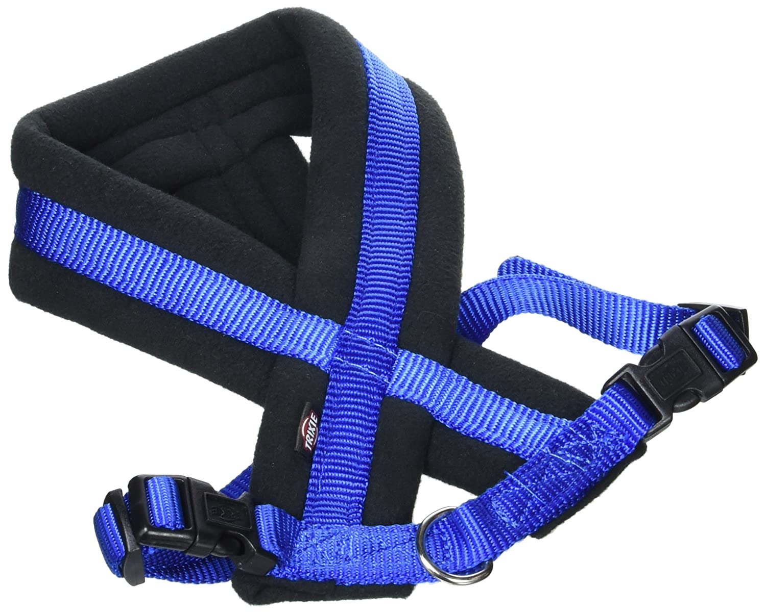 Trixie Premium Harness with Fleece Padding, S to M, 40-60 cm x 25 mm, bluee