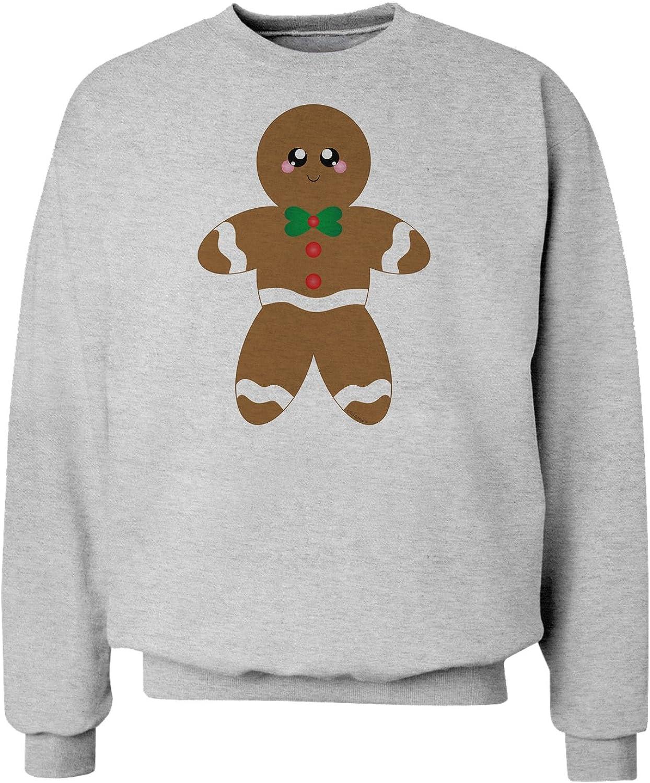 TooLoud Cute Gingerbread Man Christmas Sweatshirt