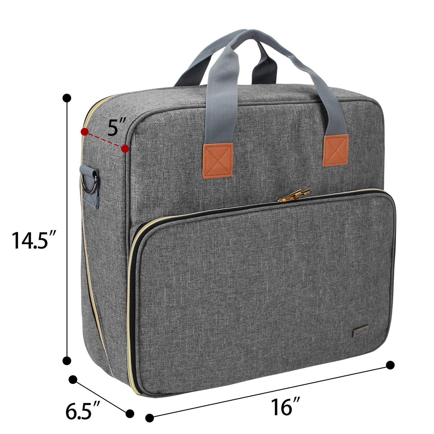 Bag Only Storage Case Compatible with Cricut Easy Press 2 and Accessories Luxja Carrying Bag Compatible with Cricut Easy Press 2 6 inches x 7 inches Black