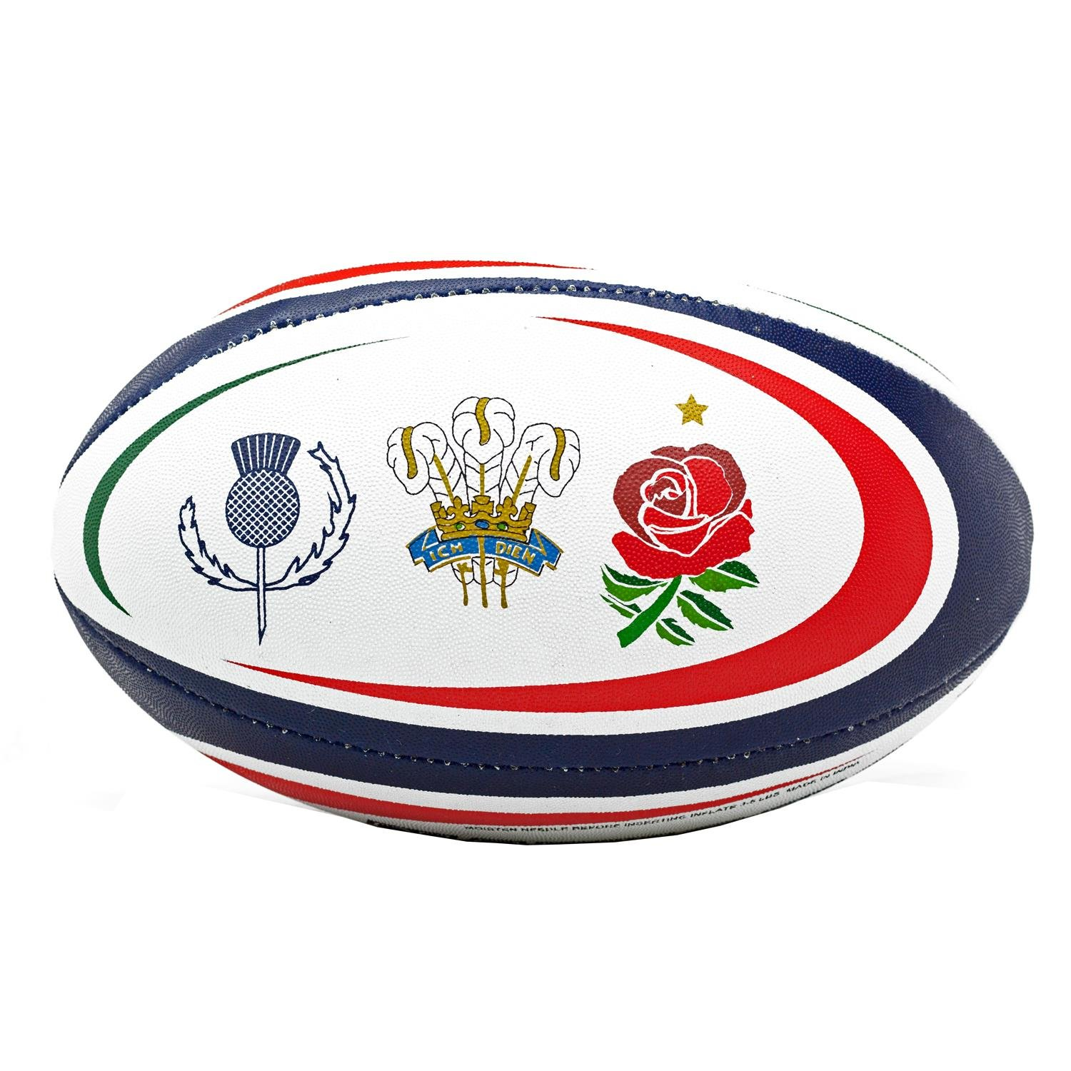 6 Nations Supporters Rugby Ball - Size 5 | England | France | Ireland | Italy |Scotland | Wales Williams Connaught