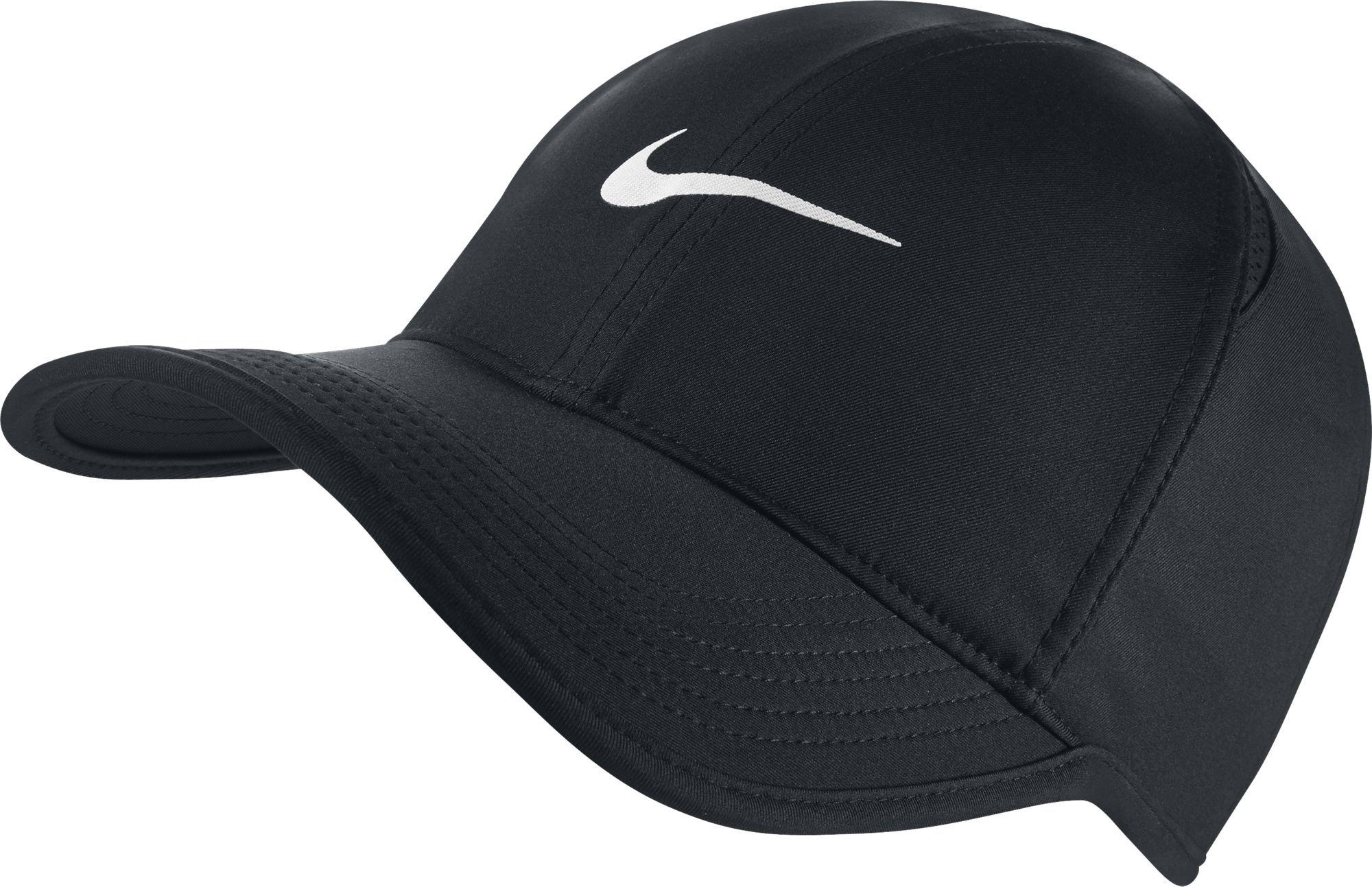 NIKE Unisex AeroBill Featherlight Cap, Black/Black/White, One Size by Nike (Image #1)