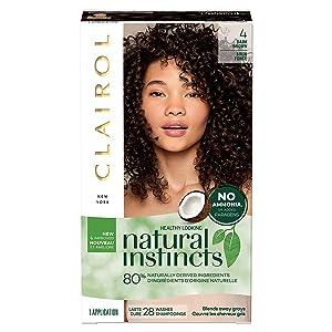 Clairol Natural Instincts Semi-Permanent, 4 Dark Brown, 1 Count