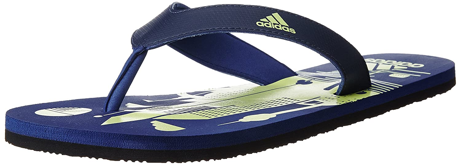 e1f639ef57b8 Adidas Men s Beach Print Max Out Men Dkblue and Ltflye Flip-Flops and House  Slippers - 10 UK India (44.67 EU)  Buy Online at Low Prices in India -  Amazon.in