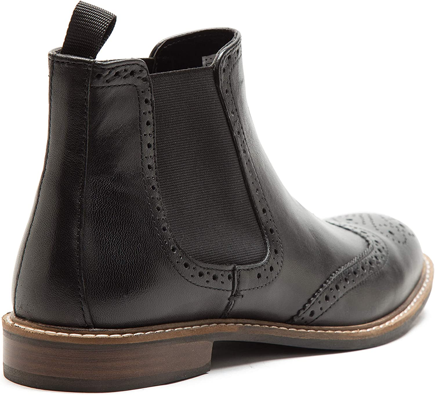Red Tape Men/'s Downton Side Gusset Chelsea Formal Brogue Boot