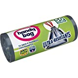 Handy bag - Basura bolsas ultra resistente con el desplazamiento de las manijas y los sujetadores elásticos 50 l/68 x 73 cm