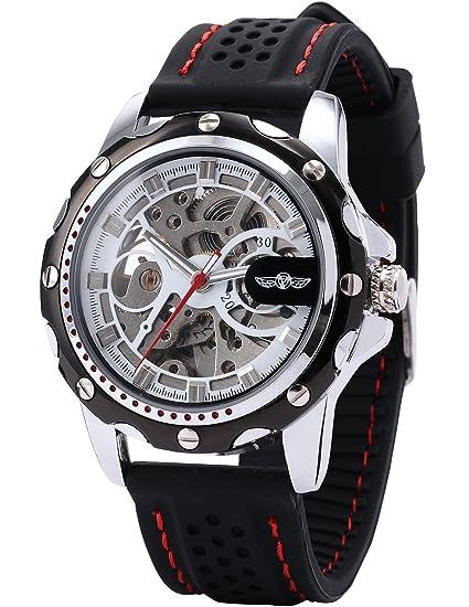 AMPM24 PMW082 - Reloj Hombre, Correa de Silicona Negra: Amazon.es: Relojes
