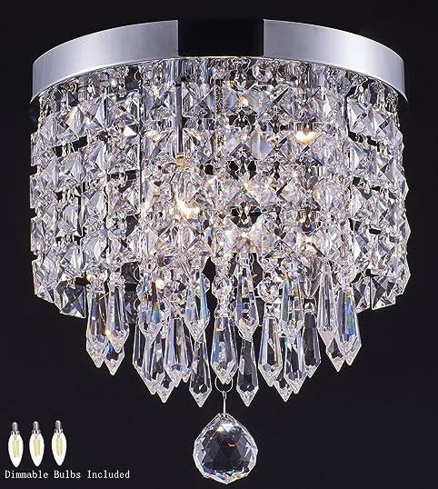 Smart Lighting Shupregu 3 light modern Crystal Chandelier Flush