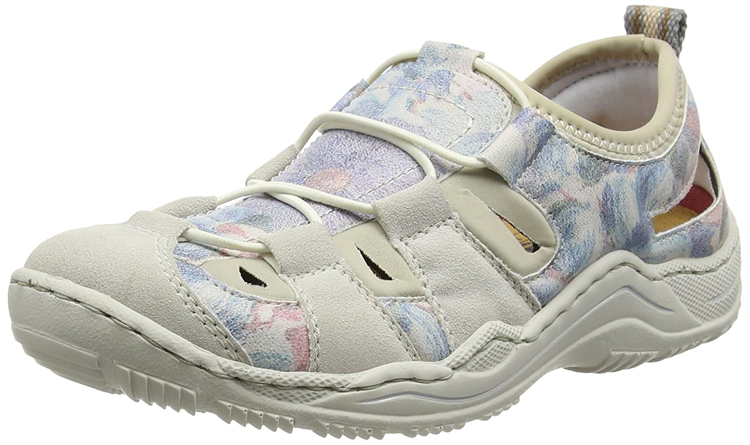 Rieker, Low-Top Donna Wei (Ice/Blau-multi/Beige / 80)