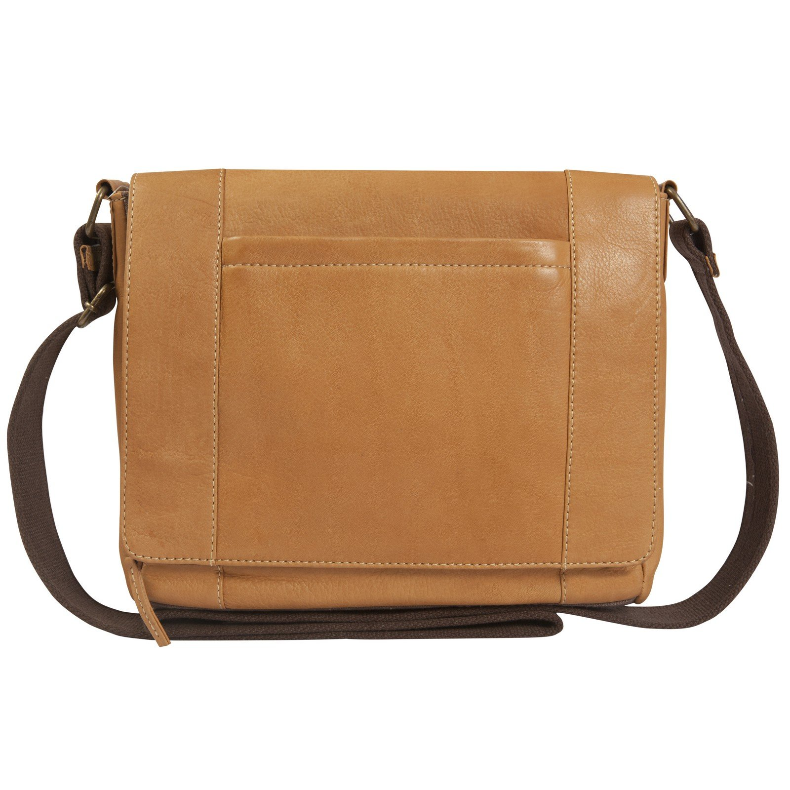 Canyon Outback Gem Canyon Leather Flapover Messenger Bag, Brown