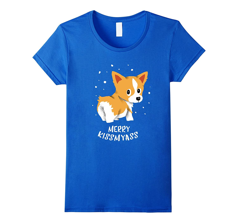 """Merrykissmyass"" Corgi Christmas Shirt"