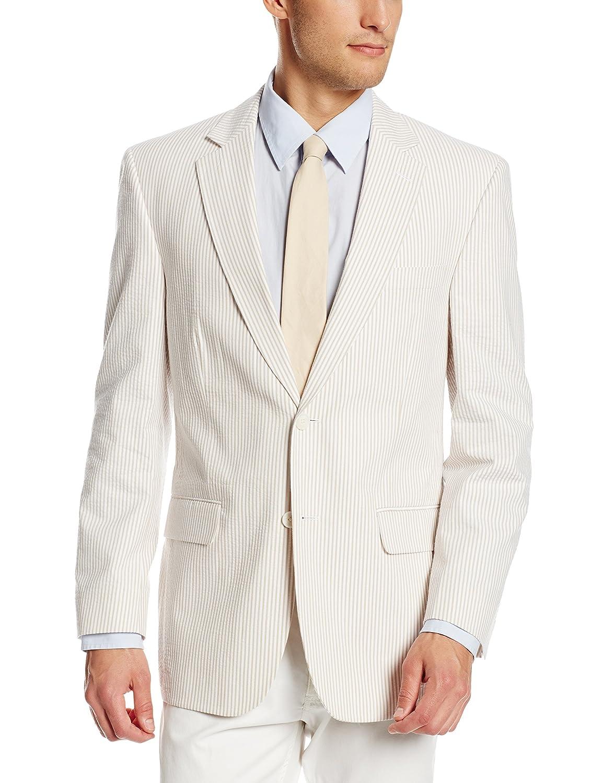 Palm Beach Men's Brock Seersucker Suit Separate Jacket Palm Beach Men's Tailored 7255-F48HL