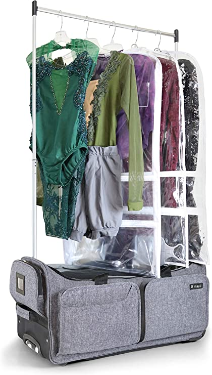 Mavii Costume Rack Duffel-Wheeled 28 Inch Collapsible Bag, Grey