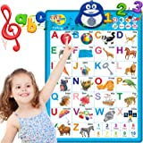 Electronic Interactive Alphabet Wall Chart, Toddler Learning Activities for Kids Ages 2-4 Educational Birthday Gifts Toys for