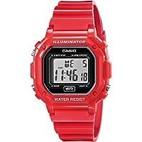 Casio F108WHC-4A sport watch - Reloj deportivo (44.4 x 42.6 x 10.3, Red, CR2016, Resin)