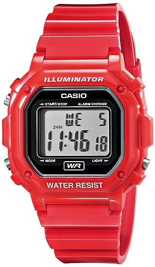 c6ccb7fad Amazon.com: Casio Unisex F-108WHC-4ACF Classic Red Resin Band Watch: Casio:  Watches