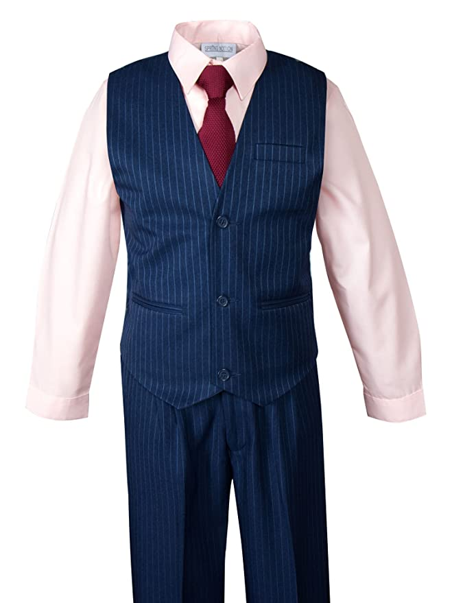 Amazon.com: Primavera Noción Boys Pinstripe traje azul con ...