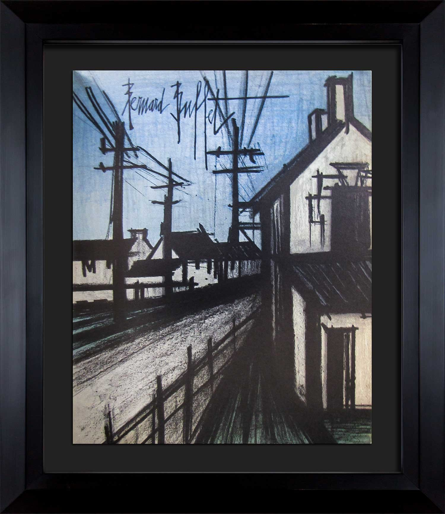 Bernard Buffet (1928 - 1999 ) Original Lithograph | Custom FRAME | SIGN | ARTdocs Registered Documentation + ARTsure Lifetime Guarantee